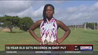 10-year-old sets records in shot put
