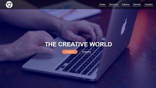 كيفية جعل موقع على شبكة الانترنت باستخدام HTML & CSS مع خلفية الفيديو خطوة بخطوة