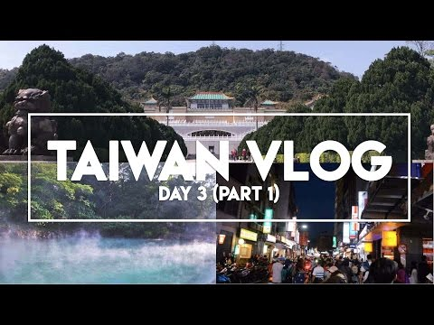 TAIWAN VLOG: Day 3 (Part 1) | National Palace Museum, Beitou Hot Springs, Tamsui Old Street
