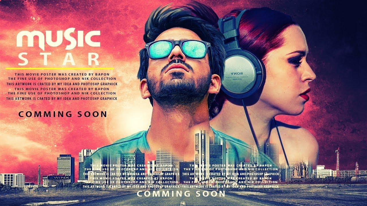 music star poster design