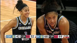 Candace Parker DOMINATES: 30 Points (12-20FGs, 4-5 From 3), 14 Rebs, 3 Assists, 2 Steals, 1 Block.