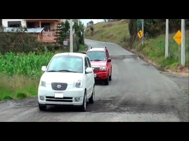 Urgen obras definitivas en la vía Azogues-Déleg