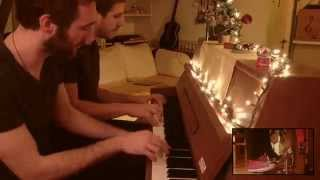 Jingle Bells - 4 hands & 4 feet piano percussion
