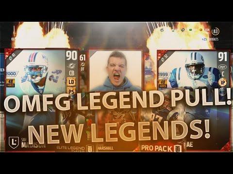 OMFG! FIRST EVER LEGEND PULL! NEW LEGENDS SAM MADISON & KEVIN MAWAE - Madden Ultimate Team 17