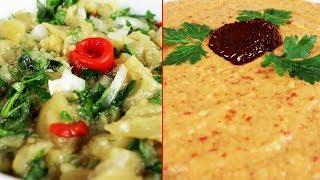 2 Farklı Közlenmiş Patlıcan Salatası - Yemek Tarifleri | Salatalar