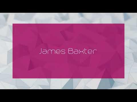 James Baxter - appearance