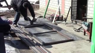 видео Металлический сарай: делаем своими руками