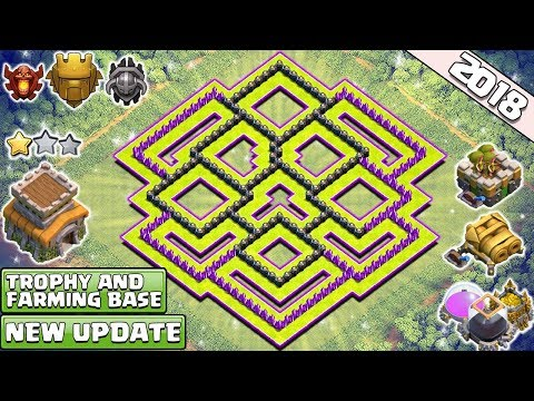 New 'BEST' Town Hall 8 (TH8) TROPHY & FARMING Base 2018!! Th8 Base Design [DEFENSE] - Clash of Clans