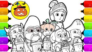 Paw Patrol : Halloween Spacial | Drawing and Coloring for Kids