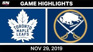 NHL Highlights   Maple Leafs vs. Sabres – Nov. 29, 2019
