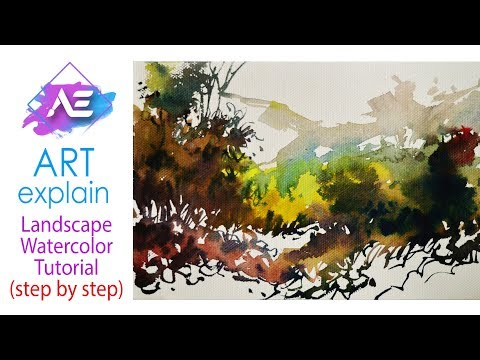 Easy Watercolor Painting | How to paint a watercolor landscape | Art Explain