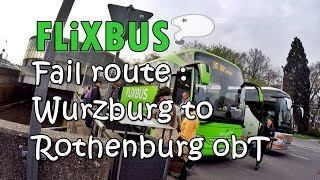 [เที่ยวยุโรป] Flixbus fail route (Wurzburg - Rothenburg obT) : Germany-Austria Travel Vlog Ep33