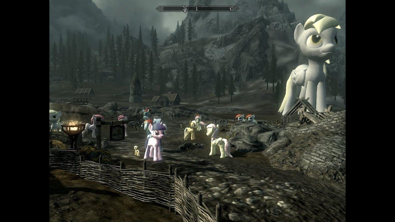 Skyrim My Little Pony Horse Fixed Crash Mod Persistent