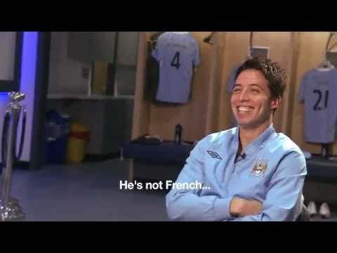 FUNNY Samir Nasri throws Patrick Vieira out of his interview Man City Behind the scenes