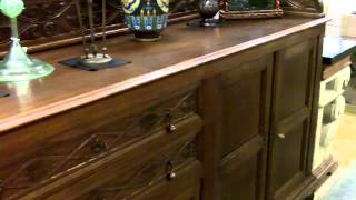 Antique furniture, Antique oak sideboard buffet bar form our antiques mall.