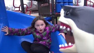 "Shark Bites Girl On Butt at School Playground ""Toy Freaks Great White Sharks Attack"""