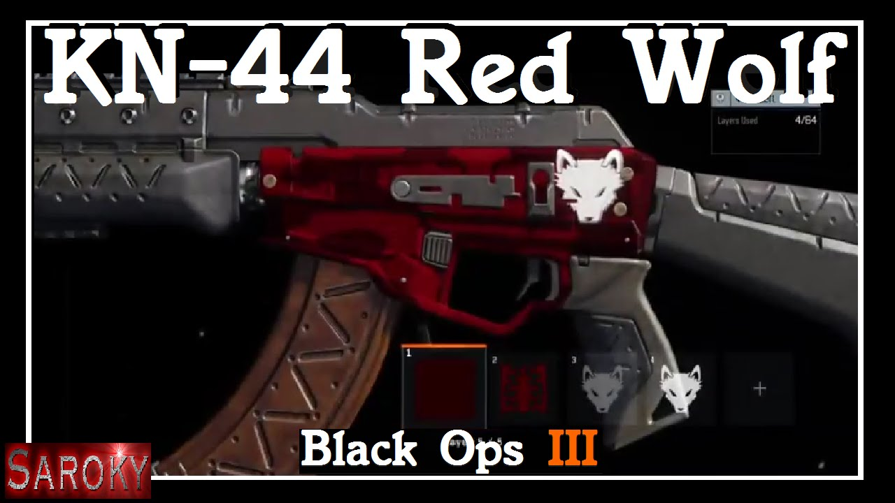 my red wolf paint job cod black ops iii kn 44 youtube