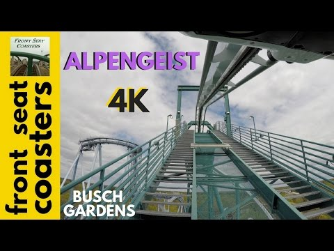 Alpengeist POV 4K Front Seat On-Ride 2017 Busch Gardens Williamsburg B&M Inverted Roller Coaster