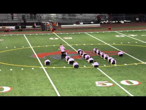 Cedarcrest high school drill team 10/10/2013
