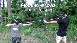 Shooting Arrows Out of the Air!    #camplife