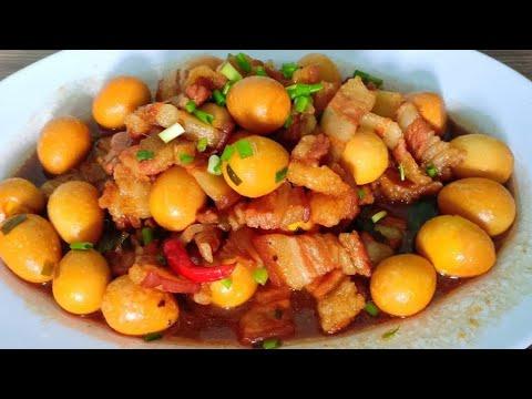 Thịt Kho Trứng Cút   Cách Nấu Thịt Kho Lên màu đẹp