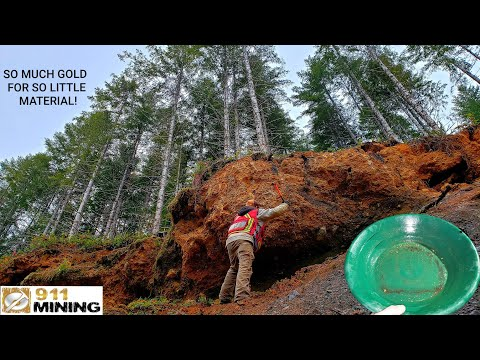 Crushing & Panning Gold From An Oxidized Outcrop!