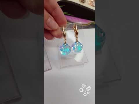 Серьги позолоченные с кристаллами Сваровски в интернет-магазине Jewel-classic.ru