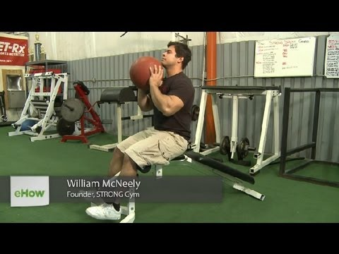 Ab Exercises With the Incline Bench & the Medicine Ball : Weight Training