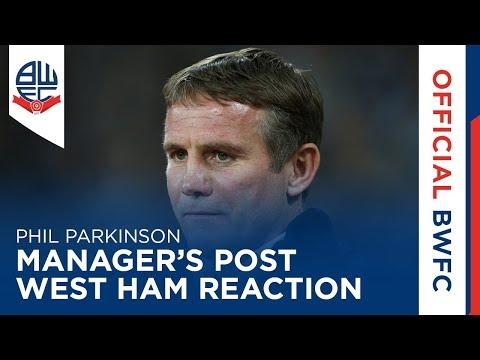 PHIL PARKINSON | Manager's post-West Ham United reaction