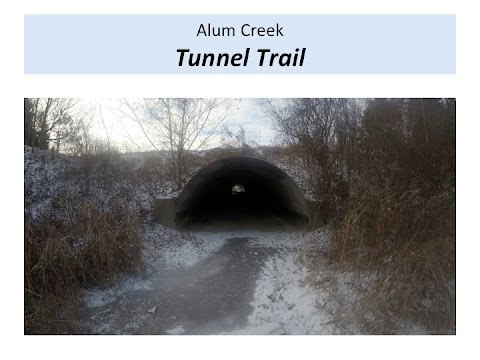 Tunnel Trail / Either Way Trail -Alum Creek  Cold, Snowy 14 Miles