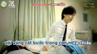Nước mắt theo màn mưa - Hồ Quang Hiếu [ Karaoke ]