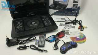 XPX EA-1269D (DVB-T2) - обзор цифрового телевизора + DVD(XPX EA-1269D - портативный DVD плеер с цифровым тюнером DVB-T2, а также переносной LCD телевизор со встроенным CD, DVD,..., 2016-08-29T07:00:01.000Z)