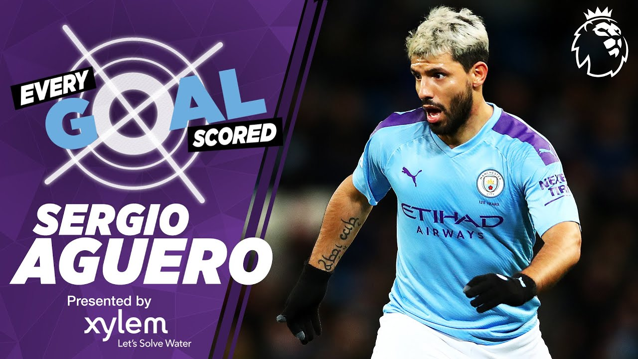 SERGIO AGUERO | RAINING GOALS | EVERY PREMIER LEAGUE GOAL SCORED | MAN CITY