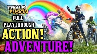 Trials Fusion Awesome level MAX DLC - AWESOME ADVENTURE! (Full Walkthrough)