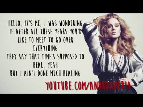Adele Hello Lyrics Youtube Youtube