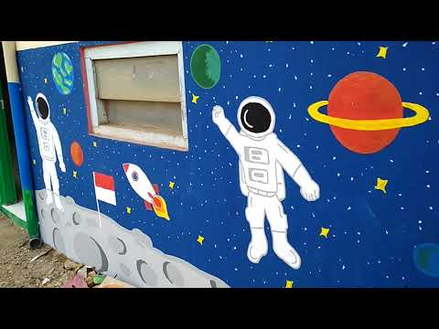 Melukis Dinding Sekolah Tk Youtube