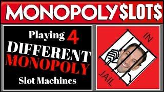 MONOPOLY SLOTS ✦ 4 Different Slot Machines ✦ Las Vegas