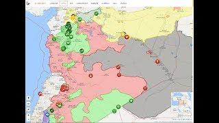 22 июля 2017. Военная обстановка в Сирии - смотрим карту в прямом эфире. Начало - в 20.30.