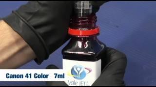Manual Recarga dos Cartuchos de Tinta Canon 40 Black e 41 Color