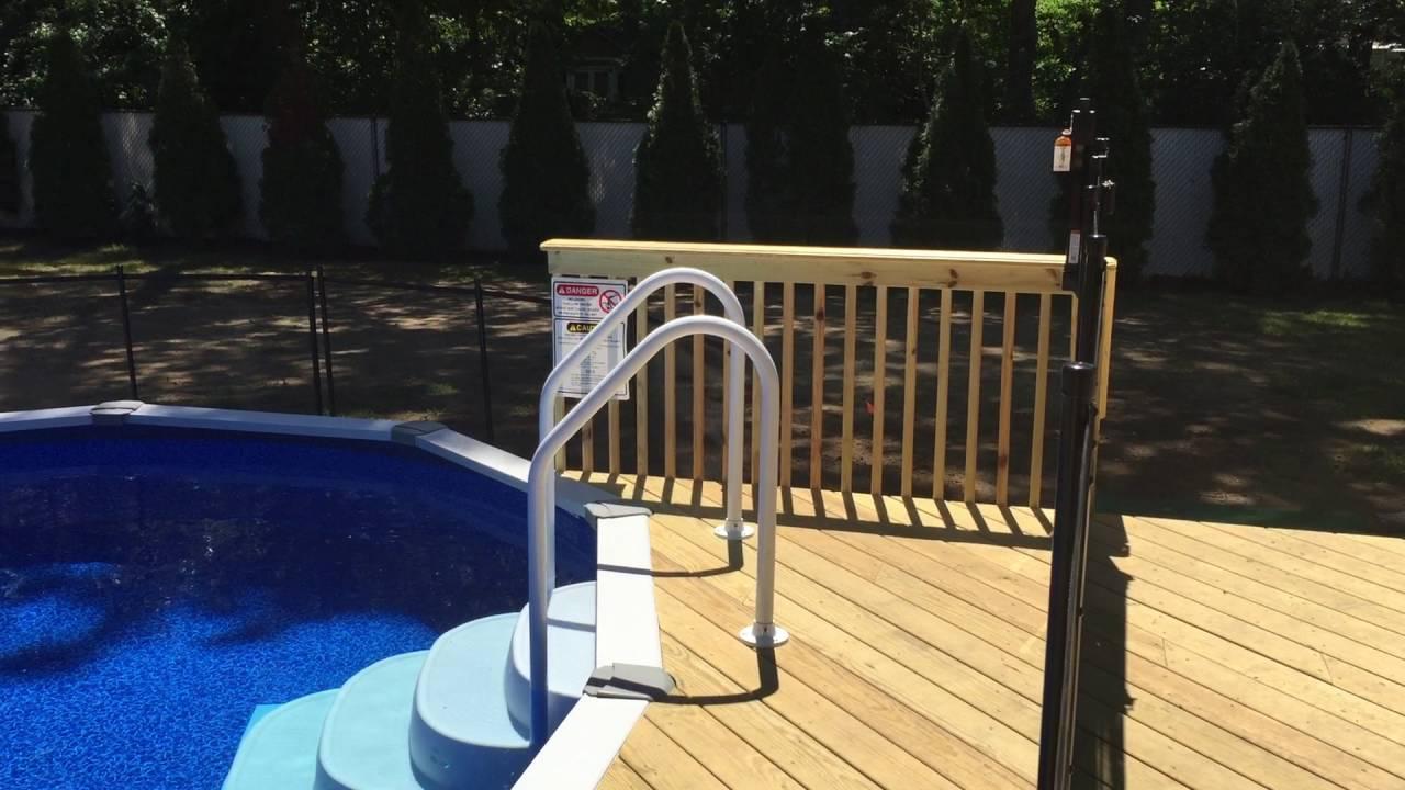 Pool Guard Of Long Island Semi Inground Pool Youtube