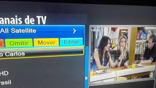 Organizar, Excluir e Bloquear Canais - Megabox MG5 HD Plus