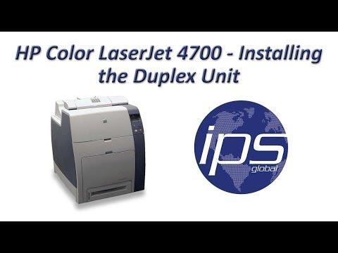 HP 4700 - Installing the Duplex Unit