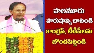 KCR Full Speech   TRS Praja Ashirvada Sabha at Wanaparthy      Great Telangana TV