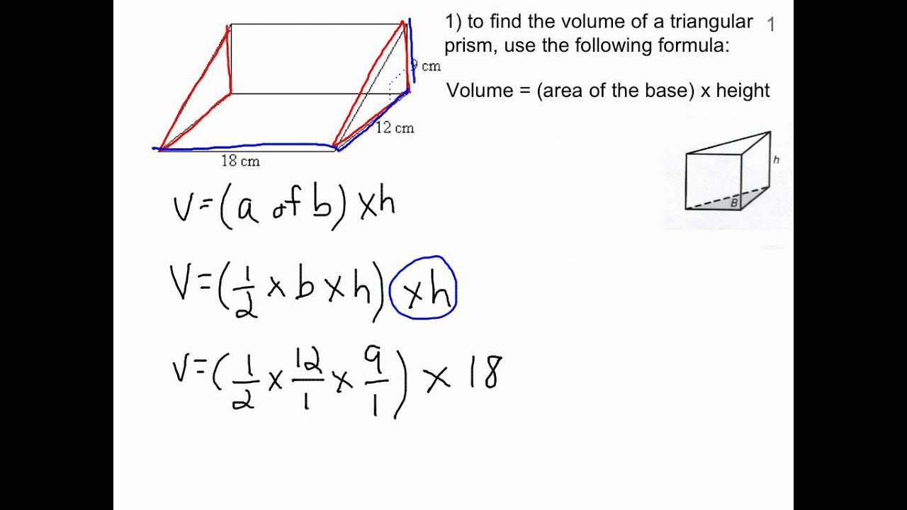 Volume of a triangular prism YouTube – Triangular Prism Volume Worksheet