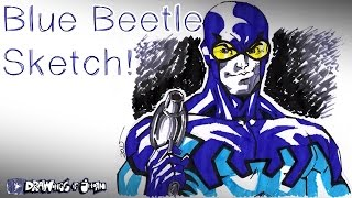 Blue Beetle Sketch! - Drawings Of Jhoan