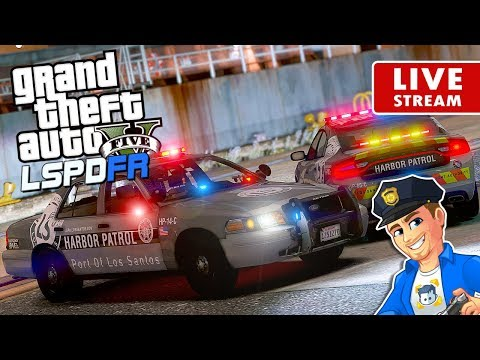 GTA 5 LSPDFR PORT AUTHORITY Harbor Patrol LIVE | GTA 5 LSPDF