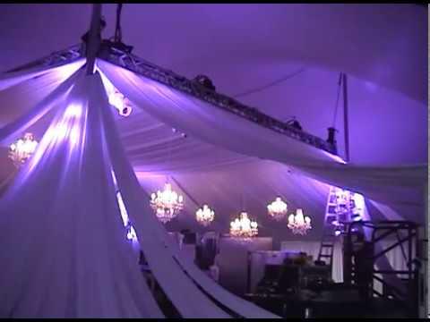 & Wedding Tent Draping - YouTube