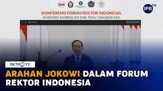 Buka Forum Rektor, Jokowi: Jangan Hanya Forum Komunikasi, Harus 'Out of The Box'