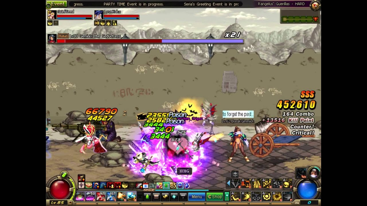 Dfo Ov Day 2 Chaos At Rangelus Guerrillas Hard Dual Comp Witch
