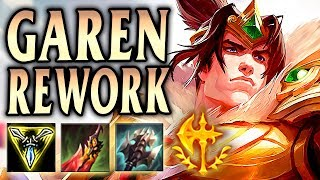 GAREN REWORK CONQUEROR INSANE SUSTAIN & TRUE DMG! - League of Legends S9